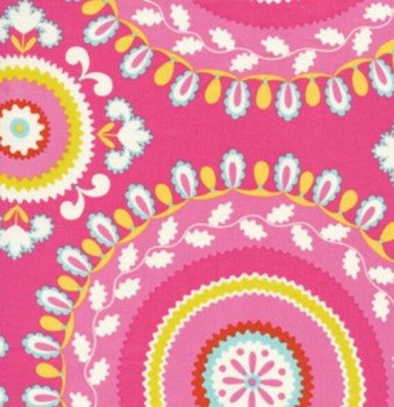 Jeevan fabric in pink kumari garden by deena by stitchinfabric for Dena designs fabric kumari garden