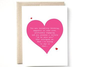 Valentine, Naughty Love, Anniversary Card, A2 Card