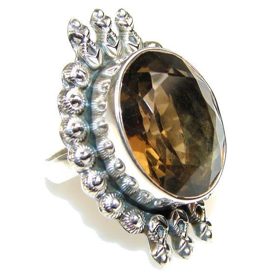 items similar to smoky topaz sterling silver ring weight