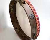 35cm Tambourine Timbrel Tamborello Pandeiro Epirotiko Defi Framedrum Bronze Zils Jingles by KleoDrums