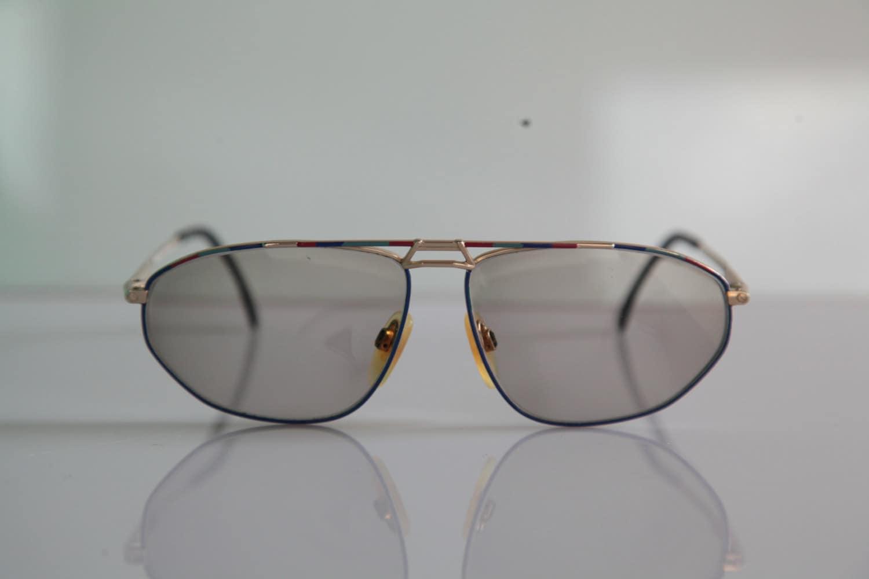 Gold Frame Clear Sunglasses : Vintage METZLER Mondi Eyewear Gold Frame Clear Crystal