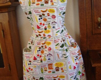 Food Groups Bib Style Apron