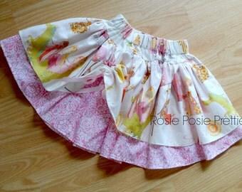 Princess Skirt, Princess Twirly Skirt, Princess Dragon Skirt, Girls Skirt, Boutique Skirt, Handmade Skirt, Summer Skirt, Skirt, Birthday