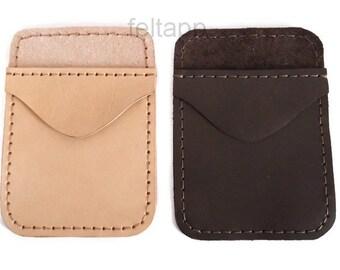 Leather Pocket Protector, Pen Pocket, Full Grain Italian  Italian Leather, Hand Stitched