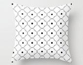 Flower Print 2 Throw Pillow - Geometric Pillow - Modern Decor - Throw Pillow - Urban Decor - by Beverly LeFevre
