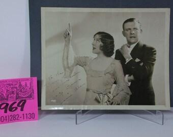 George Burns and Gracie Allen Autographed Publicity Photo