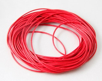 1.0mm Waxed Cotton Cord 20 Feet Red