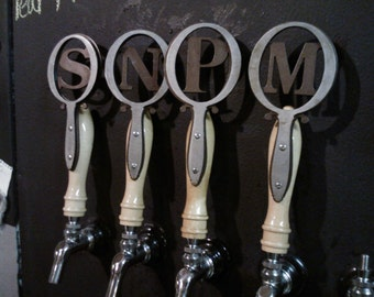 Beer Tap Handle Monogrammed Accessory with Wooden Handle