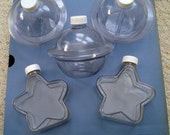 Sand Art Plastic Bottles - Party Fun - Lot of 5 - Message in a Bottle