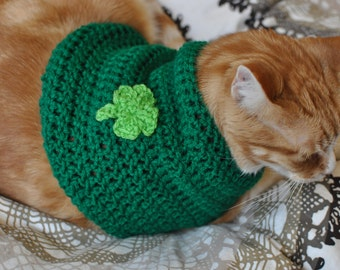 St. Patrick's Day Cat Sweater
