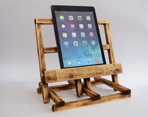 iPad 4 Station Tablet Stand iPad Air Holder Wooden iPad 3 Stand Holz iPad Ständer Bois stand iPad Charging station