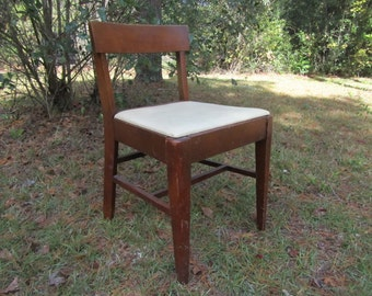 Mid Century Sewing Chair, seat lift chair, wooden chair, mid century modern chair, Springfield furniture