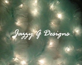 Mint Lighted Tulle Garland Wedding Decor -Wedding Reception-