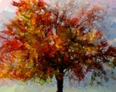 """Reserved listing for Meleta. Magnificent tree in the Autumn splendor - 40""""x30"""""""