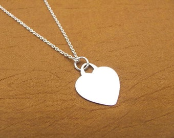 Steling Silver Heart Necklace