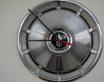 1965 F85 Oldsmobile Hubcap Clock