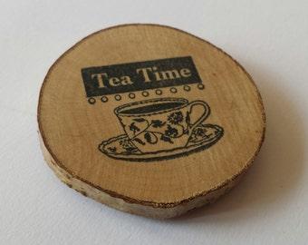 Tea time, fridge magnet, kitchen theme, kitchen decor, fridge magnet, refridgerator magnet, fathers day, fathers day gifts