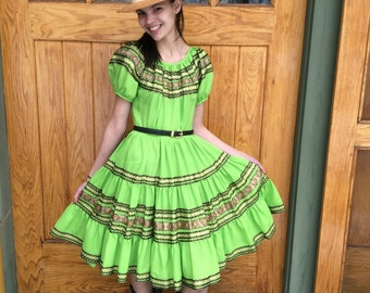 Vintage 1950s Square Dancing Dress