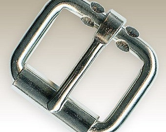 Nickel Plated Belt Buckle - 7 SIZES from 1/2 inch to 2 inches