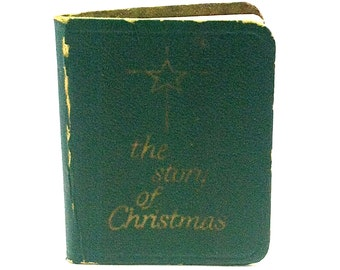 Miniature Book, The Story of Christmas, David,C. Cook Publisher, 1950, Green Cover