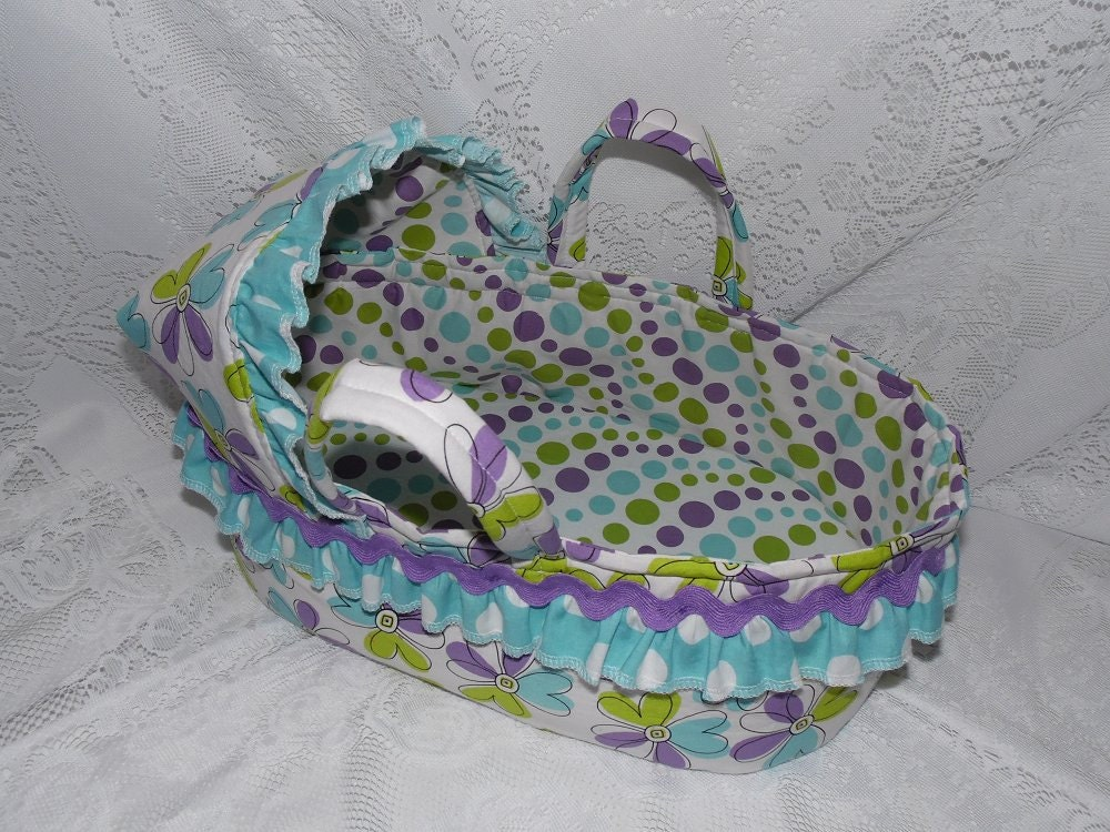 Doll Moses Basket Carrier Bed For Bitty Baby Cabbage Patch