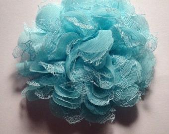 Baby blue Lace  hair flower- Carolina style