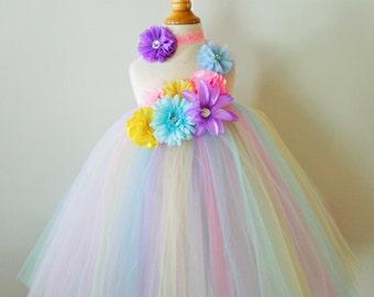 Girls Easter Pastels Tutu Party Dress -  Infant thru Girls 8