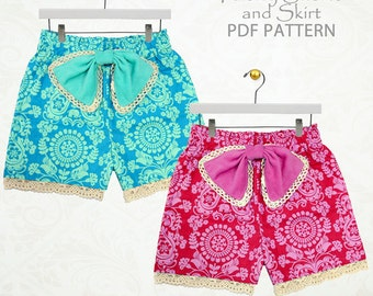 Shorts sewing pattern pdf, Children sewing pattern, Girls sewing pattern pdf, sewing pattern for kids, girls shorts.pattern PAISLEY