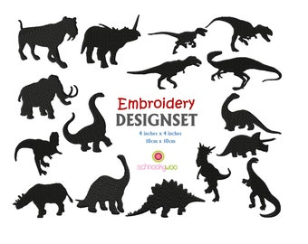 DINOSAUR Embroidery Design, Dinosaur Embroidery, T-REX, Jurassic, Dino, Monster, Mammoth, Sabre tooth tiger