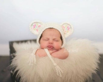 Newborn Teddy Bonnet