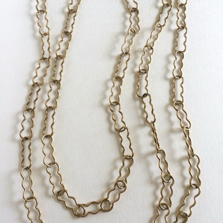 Peanut Chain Chandelier Chain LG Brass Chain 1YD