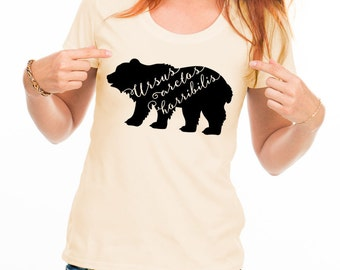 Grizzly Bear Shirt Grizzly Bear T Shirt Typography T Shirt Funny Women's TShirts Hipster Shirt Funny Science T Shirt American Apparel Jersey