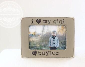 Grandma Gift Picture Frames. Gift for Grandma Gigi Grandmother Personalized Frame Yaya Nanny Nana