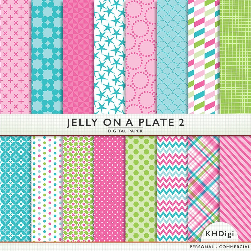Digital Paper Jelly On A Plate 2 Scrapbooking And Digital