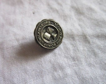 Vintage Wilkinsburg Junior High School Sterling Silver Pin