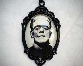 Frankenstein Ornate Metal Necklace