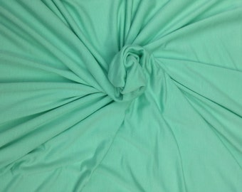 Modal Spandex Jersey Knit Fabric by the Yard  4 Way Stretch - MINT #B 12/14 (Yoga Wear)