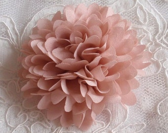 Lager Handmade Fabric Flower Fabric Rose (3 inches) in Sweet Nectar MY- 172-02 Ready To Ship