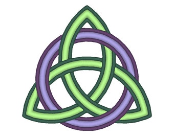 Triquetra Celtic Knot Symbol Embroidery Machine Design