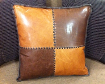 Cross Country Leather Cushion