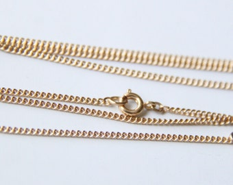 2 pcs of 1.8mm ready made brass chain 34inch  80cm-- 18k gold