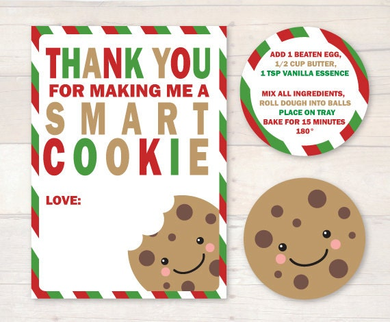 Smart image with regard to thanks for making me one smart cookie free printable