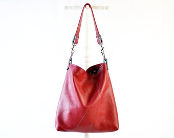 CUSTOM Buttercup Bucket Bag - Slouch Bag with Line Rays Stitching - Design Your Own Moss Bags - Choose Your Colors