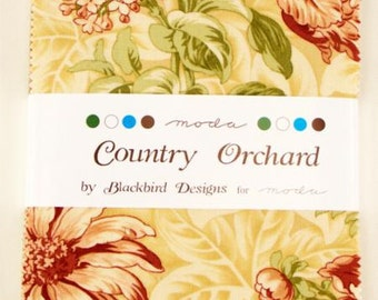 CLOSE OUT SALE Country Orchard Charm Pack by Blackbird Designs for Moda