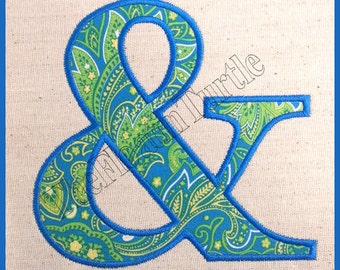 Ampersand Applique Embroidery Design And & Sign Embroidery Design Machine Embroidery Design