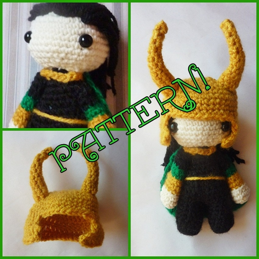 LOKI Laufeyson doll PATTERN crochet toy chibi amigurumi