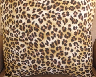 Big Sale !!! Small Scale Leopard Animal Print Pillow Cover 18x18.
