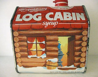 1987 Log Cabin Syrup 100th Annivarsary Can Vintage Collectible CL3-5