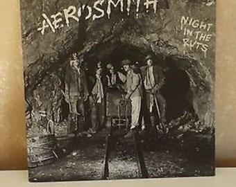 Vintage LP Record Aerosmith Night in the Ruts Columbia 36050   R-15