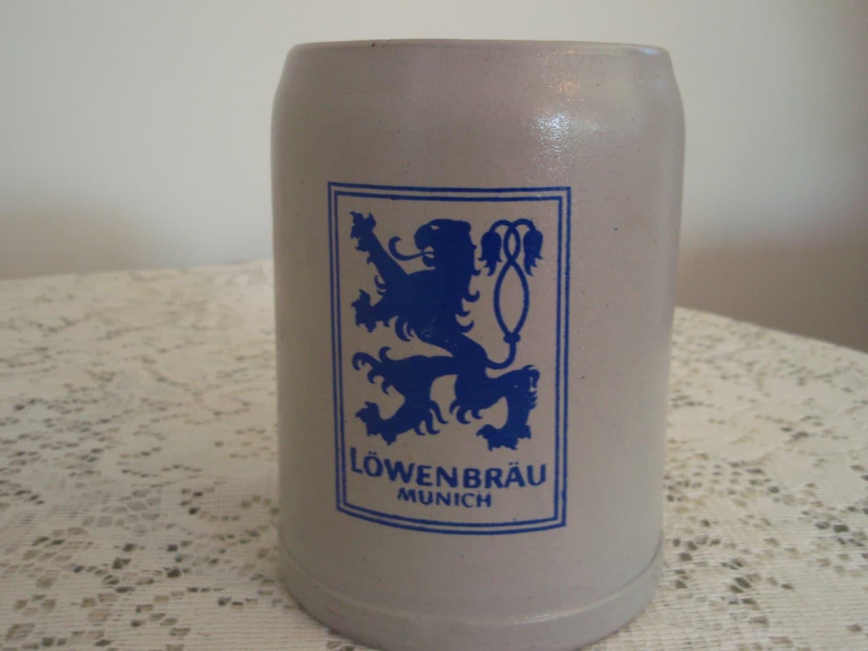 Lowenbrau Stein Stoneware Beer Stein 0 5 Liter Lowenbrau